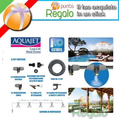 Kit nebulizzatore ad acqua per esterni per gazebo piscine for Acqua per piscine